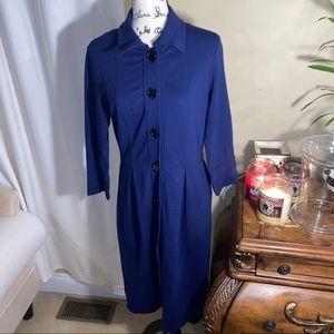 🆕🆙Talbots Navy Blue Coat Dress